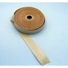 Cream twill cotton ribbon 36 mm wide