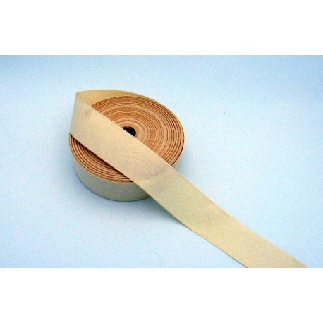 Cream twill cotton ribbon 50 mm wide