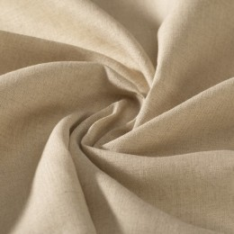 Wide width natural color organic flax / linen GOTS certified