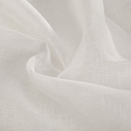 80 cm white lightweight woven flax veil Made in France