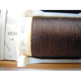 Organic cotton thread Color: dark brown