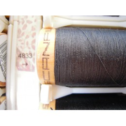 Organic cotton thread Color: dark grey