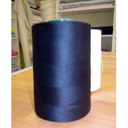 Black organic cotton thread cone 5000 m
