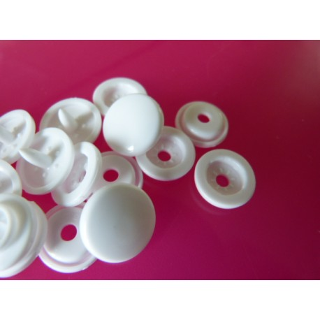 Pressions KAM Taille 24 blanches (15 mm)