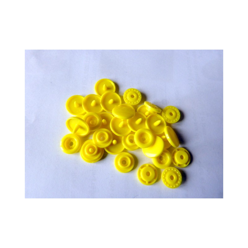 5 snaps set - size 20 lemon yellow
