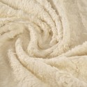 Cream lambstyle plush 100% organic cotton