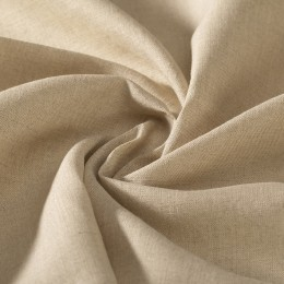 Natural color lightweight woven flax grown in France GOTS certified