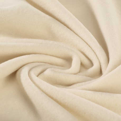 Cream organic cotton fleece GOTS certified