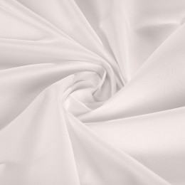 White organic cotton sateen
