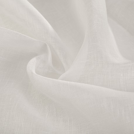 White lightweight woven flax veil Made in France