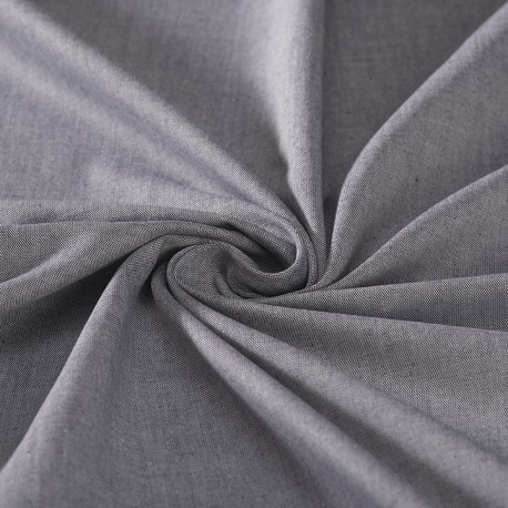 Blue oxford organic cotton shirting fabric