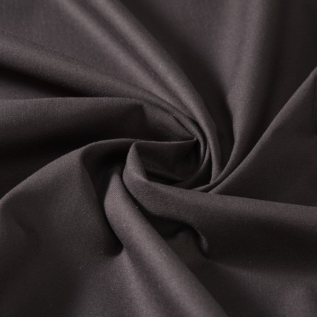 Black organic cotton poplin, GOTS certified