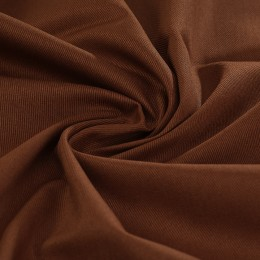 Chocolate organic cotton twill 100% GOTS certified