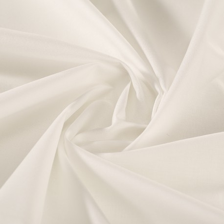 White organic cotton veil GOTS certified