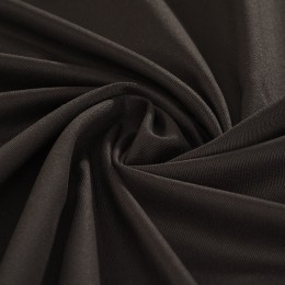 Black organic cotton lightweight twill