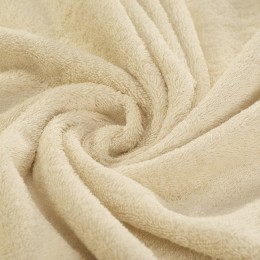 Cream French terry 450 g/m² 100% organic cotton Gots certified