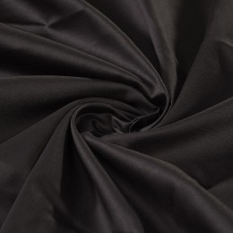 Black organic cotton sateen