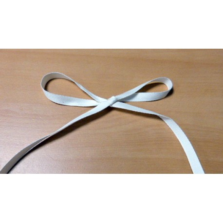 Cream twill cotton ribbon 10,5 mm wide