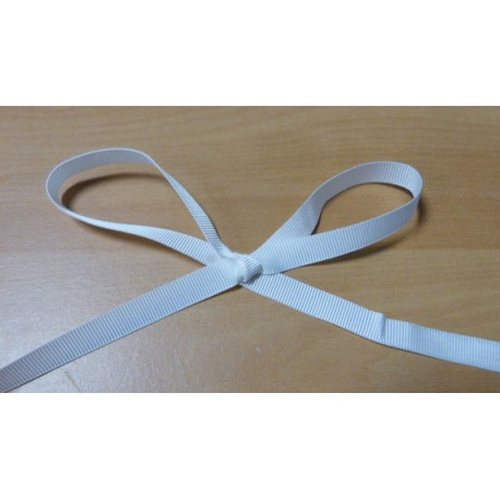 Grosgrain white cotton ribbon 10 mm wide
