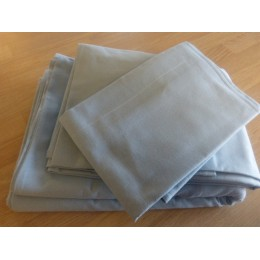 100% organic cotton sky blue pillowcase