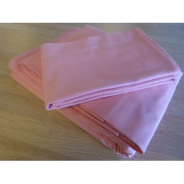 Pink organic cotton pillowcase