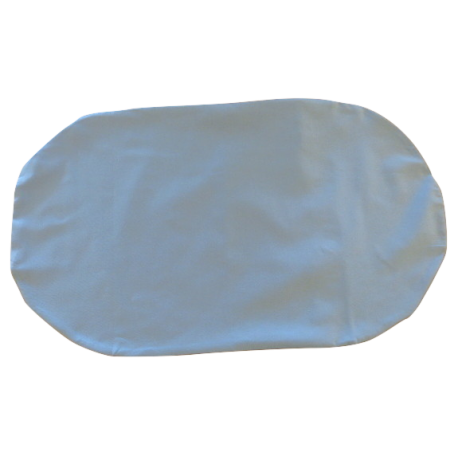 Organic cotton blue topponcino cover