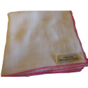 3 muslin nappies - 100% GOTS certified white organic cotton