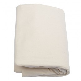 Cream organic cotton flat sheet
