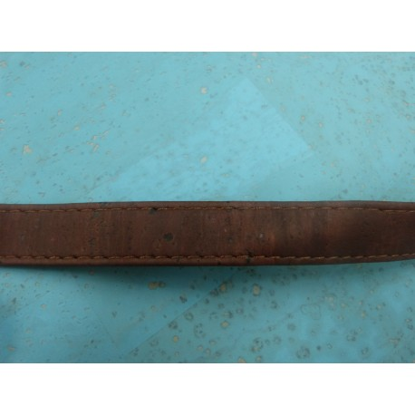 Sangle cuir de liège marron 12 mm