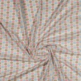 Apple print organic cotton poplin