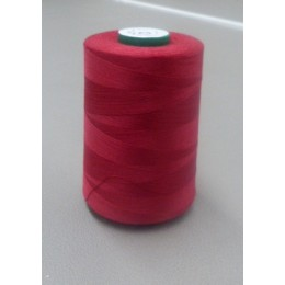 Burgundy organic cotton thread cone 5000 m