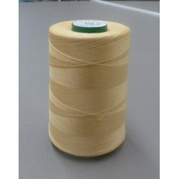 Straw yellow organic cotton cone thread 5000 m