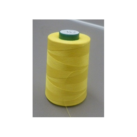 Yellow organic cotton thread cone 5000 m