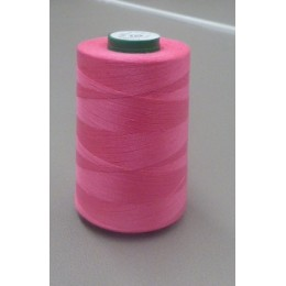 Bright pink organic cotton thread cone 5000 m