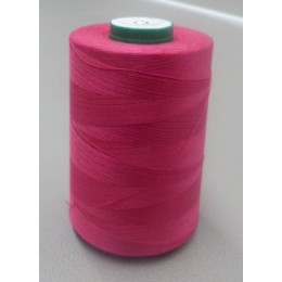 Fuschia pink organic cotton thread cone 5000 m