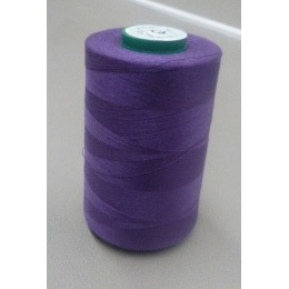 Purple organic cotton thread cone 5000 m