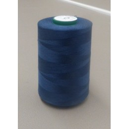 Medium blue organic cotton thread cone 5000 m
