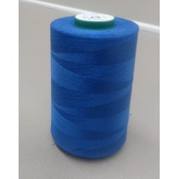 Royal blue organic cotton thread cone 5000 m