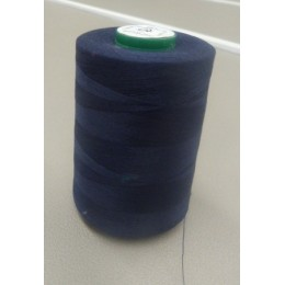 navy blue organic cotton thread cone  5000 m