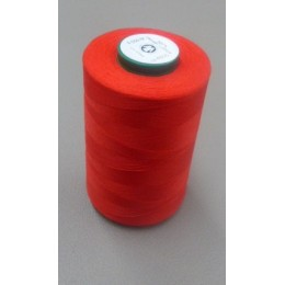 Red organic cotton thread cone 5000 m