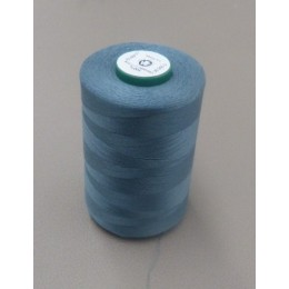 Dark grey blue organic cotton thread cone 5000 m