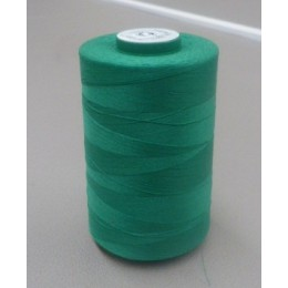Bright green organic cotton thread cone 5000 m