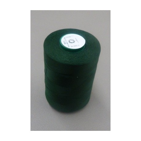 Dark green organic cotton thread cone 5000 m