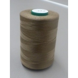 Taupe organic cotton thread cone 5000 m