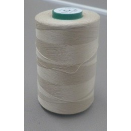 Beige organic cotton thread cone 5000 m