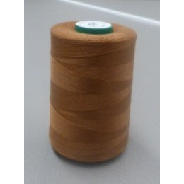 Light brown organic cotton thread cone 5000 m