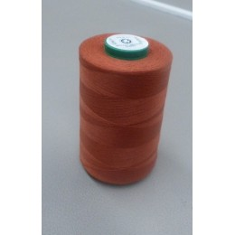 Rust brown organic cotton thread cone 5000 m