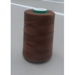Chocolate organic cotton thread cone 5000 m