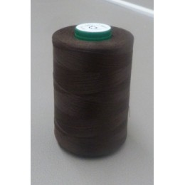 Dark brown organic cotton thread cone 5000 m