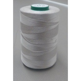 Light grey organic cotton thread cone 5000 m